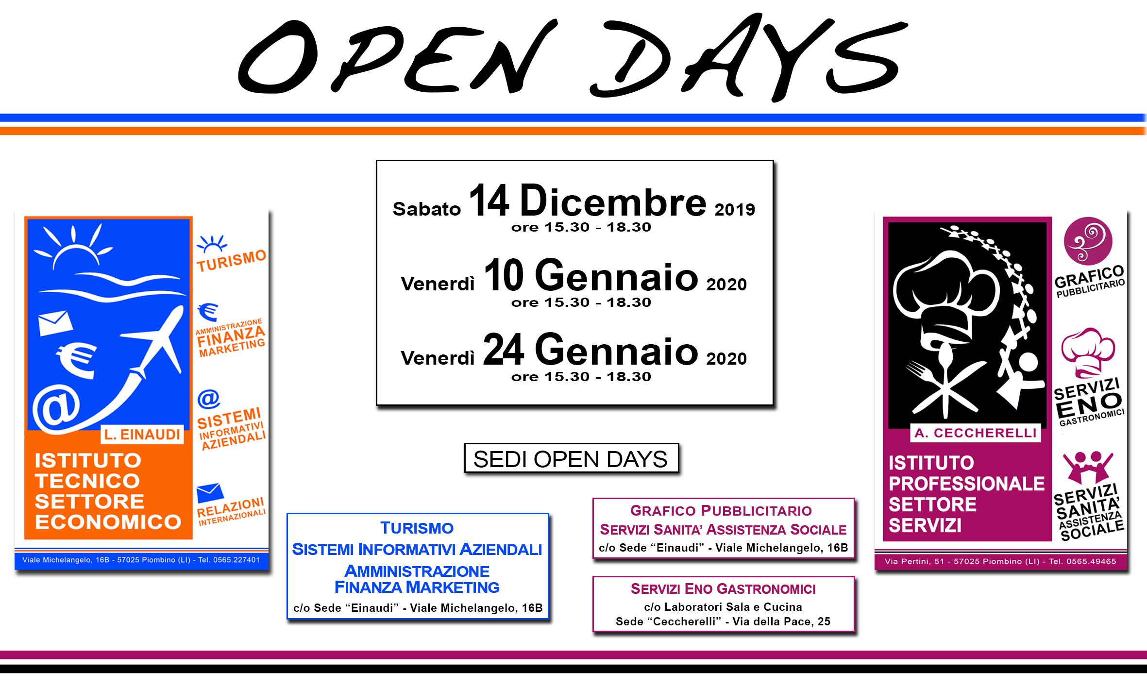 open days dicembre