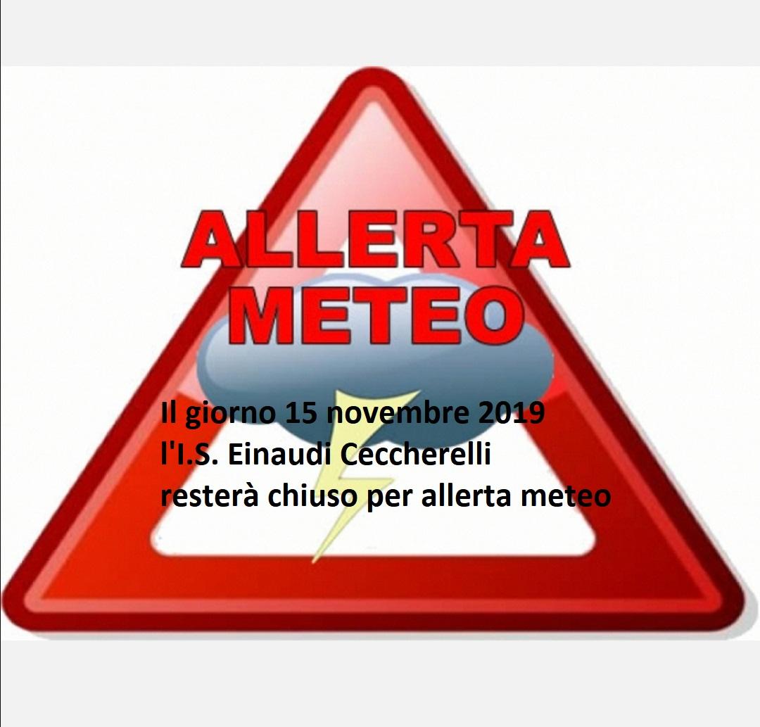 Allerta meteo 15 novembre